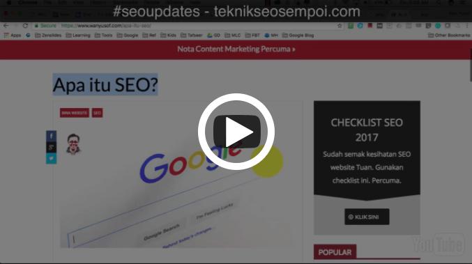 SEO Update #2 : Fungsi Title Tag, Permalink dan Meta Description