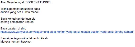 email dari wanyusof
