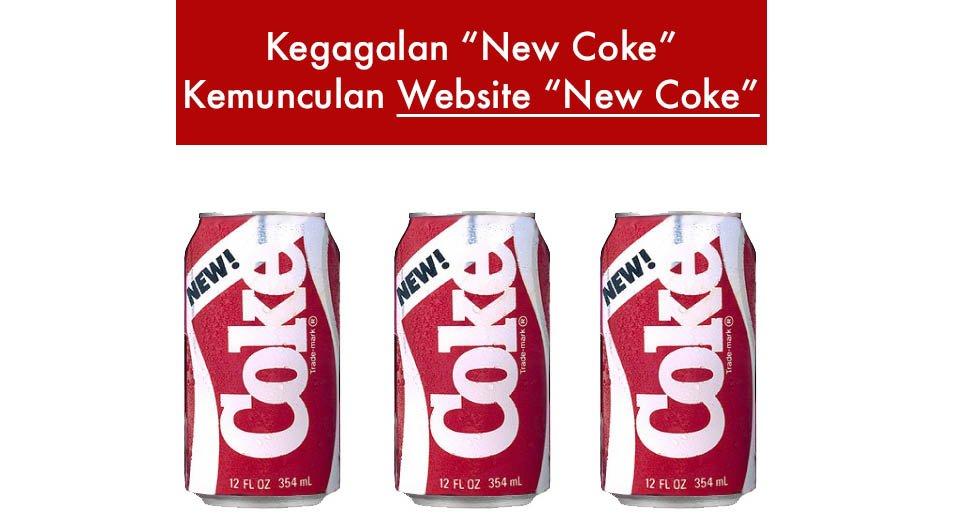 """Kisah Kegagalan """"New Coke"""" dan Pengajaran Berguna Untuk Pemilik Bisnes Online"""