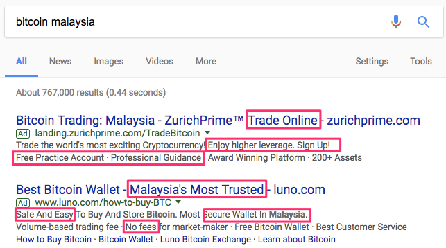 adwords bitcoin