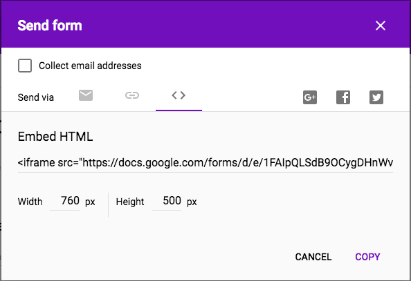 google form integration