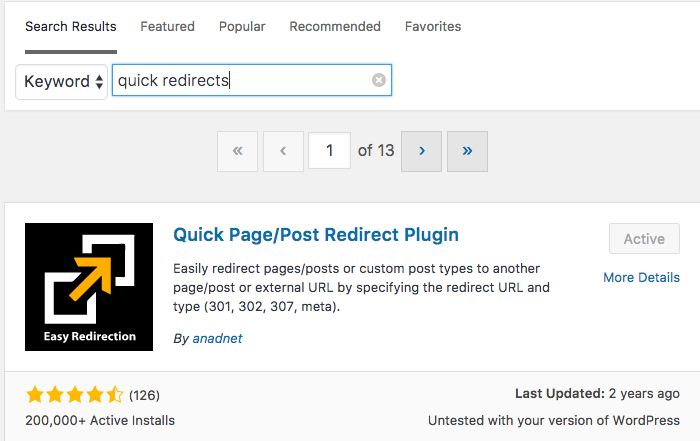 plugin quick redirect