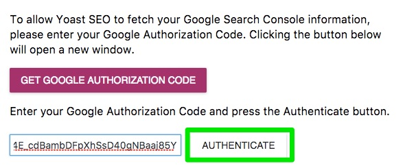 authenticate kod