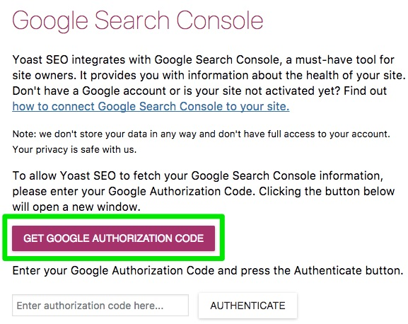 get google authorization code